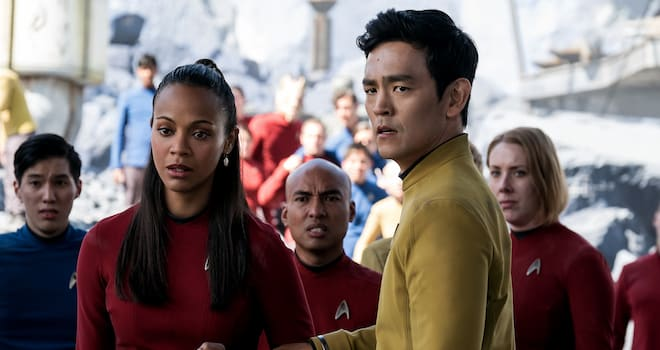 Uhura and Sulu in STAR TREK BEYOND