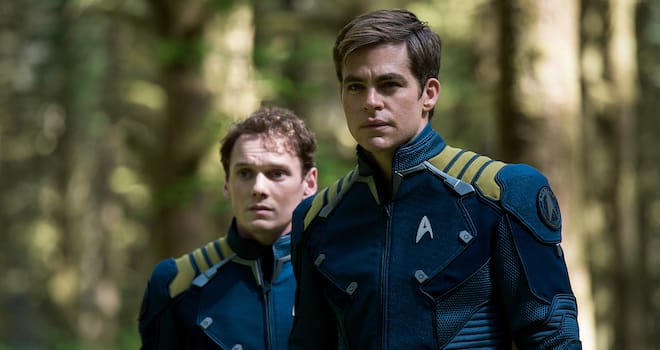 Chekov and Kirk in STAR TREK BEYOND
