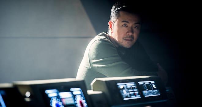 Justin Lin on the set of STAR TREK BEYOND