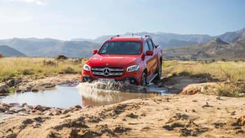 Mercedes-Benz X-Klasse – Exterieur, Danakilrot, Ausstattungslinie PROGRESSIVE // Mercedes-Benz X-Class – Exterior, danakil red, design and equipement PROGRESSIVE