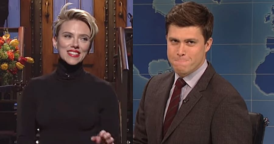 Scarlett Johansson & Colin Jost Spotted Making Out, and the Internet Is Taking It Well
