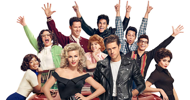 GREASE: LIVE: (L-R): Keke Palmer, Kether Donohue, Julianne Hough, Andrew Call, Carly Rae Jespen, Carlos PenaVega  Aaron Tveit, David Del Rio, Jordan Fisher and Vanessa Hudgens in GREASE: LIVE airing LIVE Sunday, Jan. 31, 2016 (7:00-10:00 PM ET live/PT tape-delayed) on FOX. Cr: Tommy Garcia/FOX