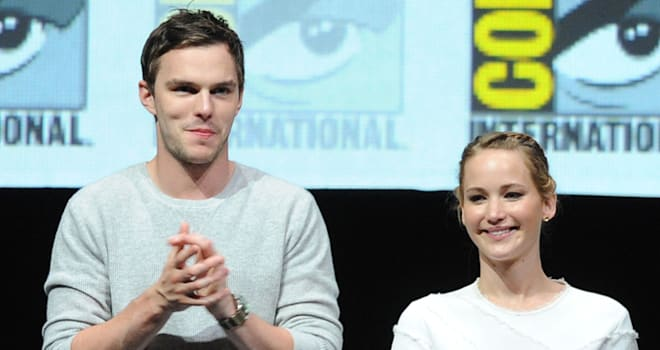 Nicholas Hoult and Jennifer Lawrence at Comic-Con 2013