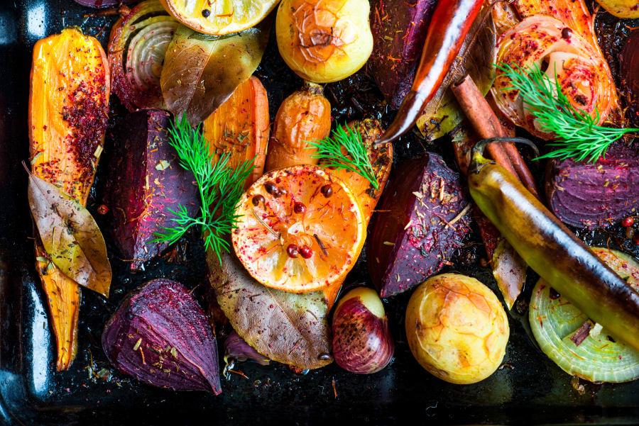 Roast up your favourite vegetables to serve alongside your succulent