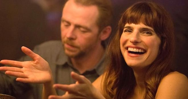Lake Bell and Simon Pegg in Man Up