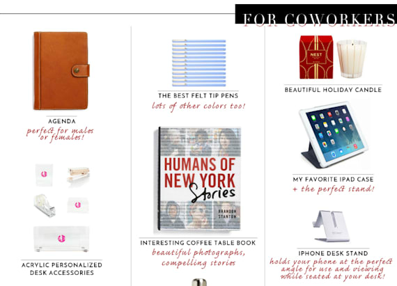 Holiday gift guide for your coworkers