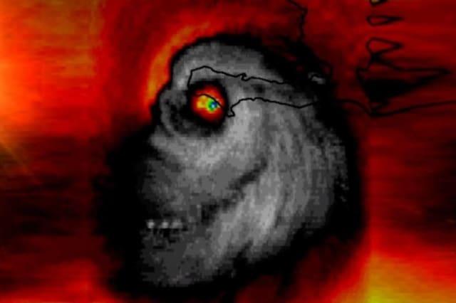Terrifying image of hurricane matthew