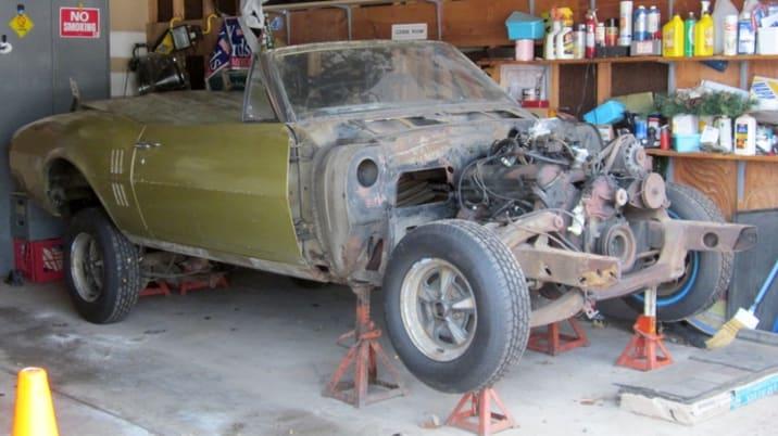 1967 Firebird Prius conversion