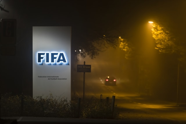 FIFA headquarters in Zurich at night