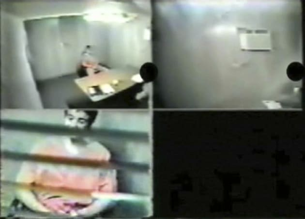Omar Khadr, 16 years old at the time, appears in multiple video screen grabs during a February 2003 interview...