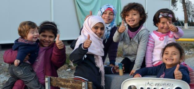 Imagen tomada por los voluntarios en el campo de Alexandria
