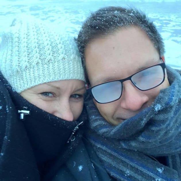 Justine Damond on holiday with fiancé
