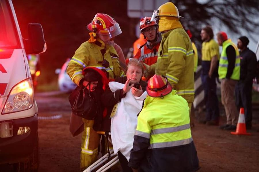 emergency services treated 19 people on the