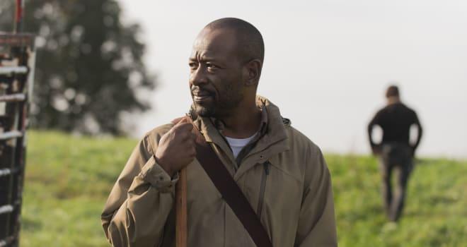 Andrew Lincoln as Rick Grimes; Lennie James as Morgan Jones - The Walking Dead _ Season 6, Episode 15 - Photo Credit: Gene Page/AMC