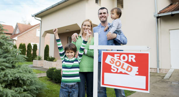 Family just buy a hew home
