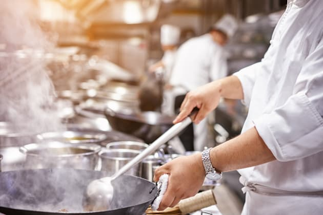 motion chefs of a restaurant
