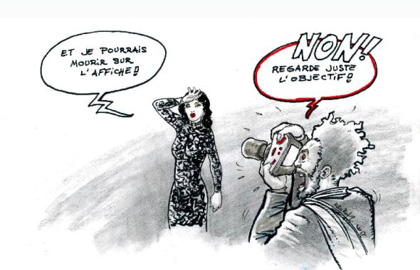 Marion Cotillard en femme fatale sur l'affiche des César