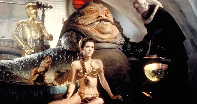 princess leia, jabba the hutt, princess leia bikini, princess leia slave, carrie fisher