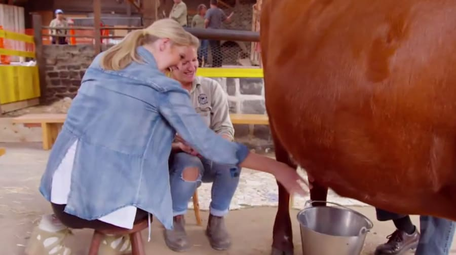 Udderly delighted, Lorinska conquers her lactose