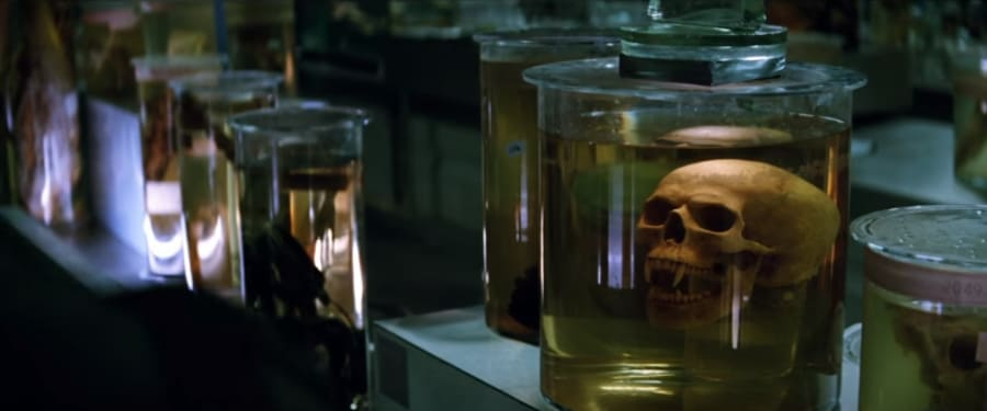 """Spooky heads in spooky jars. The featurette for """"The Mummy"""" gives a glimpse at Russell Crowe's..."""