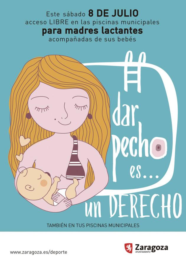 'Dar el pecho es un derecho': la campaña del Ayuntamiento de Zaragoza para defender la lactancia en piscinas
