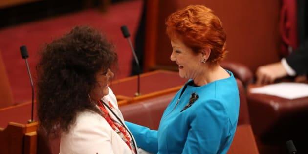 Senator Malarndirri McCarthy with Senator Pauline