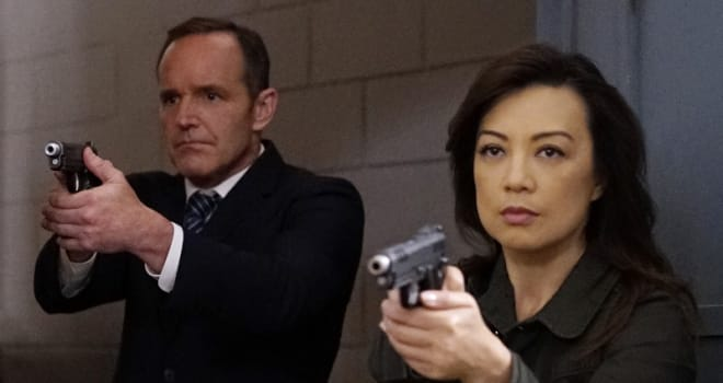 Clark Gregg and Ming-Na Wen in Marvel's AGENTS OF SHIELD