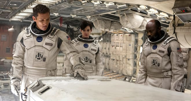 Matthew McConaughey, Anne Hathaway, and David Gyasi in Interstellar