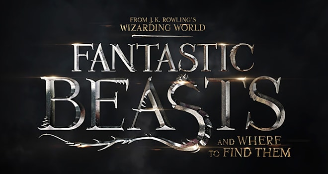 fantastic beasts and where to find them, fantastic beasts, title design, logo
