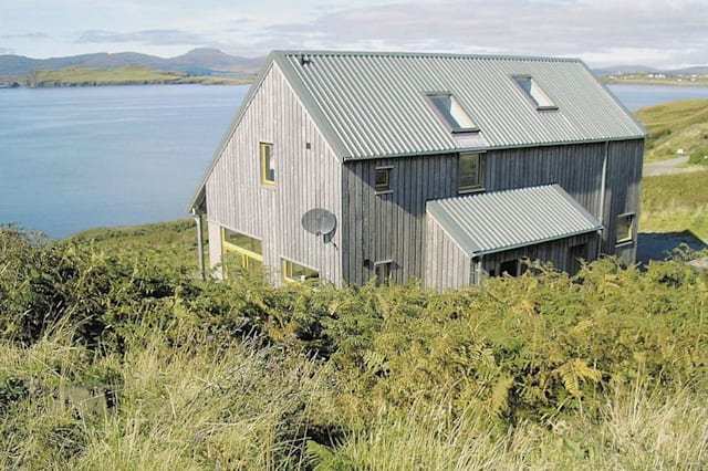 The Skye house overlooking the sea
