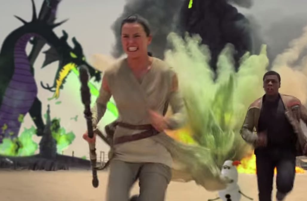 Your favorite Disney characters star in amazing 'Star Wars' mashup