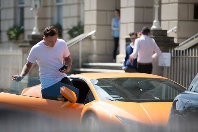 Lamborghini in mayor's parking space
