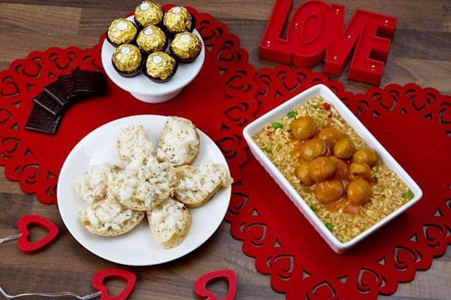 Valentine's Day meal from Poundland