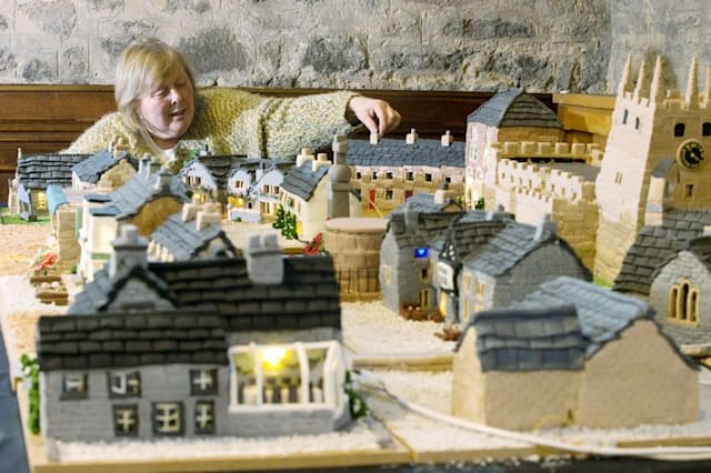 Entire village made from cake