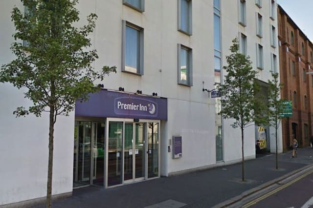 Premier Inn put ridiculous sign in lift for dance competition