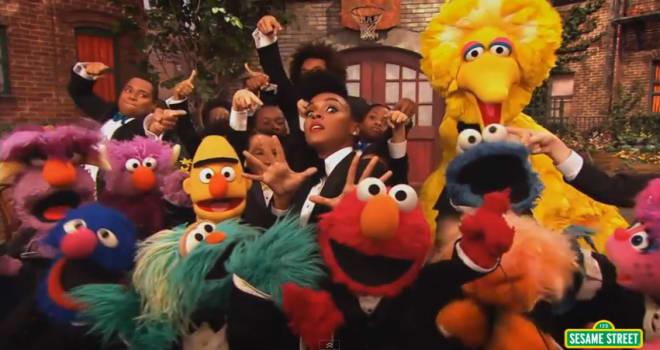 Janelle Monae on Sesame Street