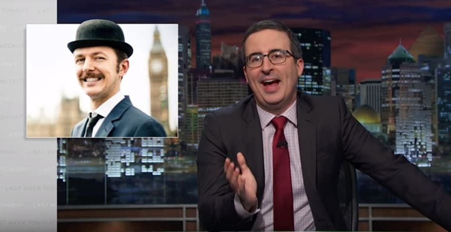 John Oliver compares traditional British bowler hats to private