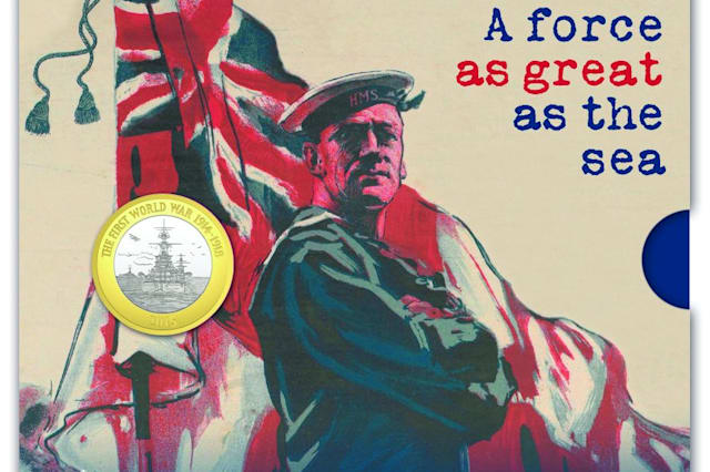 Royal Mint issues special £2 coins into circulation to honour the Royal Navy's role in First World War