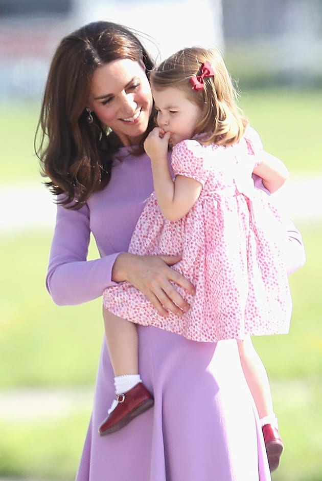The Duchess and Princess Charlotte. (Photo by Chris Jackson/Getty