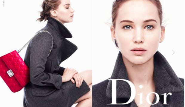 Dior ads with Jennifer Lawrence, styled by Tiina Laakkonen.