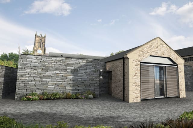 The newly-converted barn