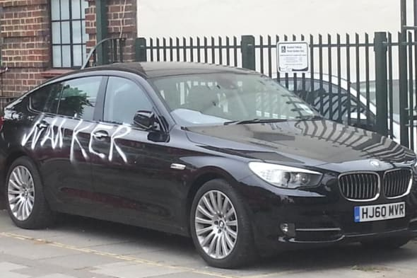 BMW drivers gets graffiti comeuppance for parking in disabled space