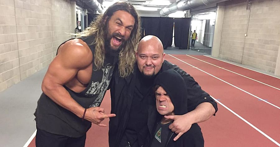 Jason Momoa & Peter Dinklage Had the Most Badass 'Game of Thrones' Reunion