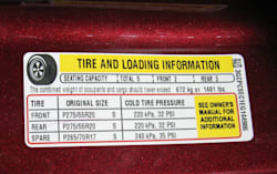 GM Tire Load info