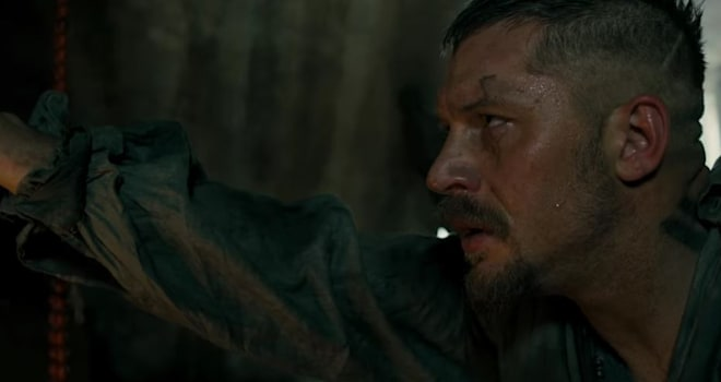 Is Tom Hardy naked in the trailer for FX's new series, Taboo?