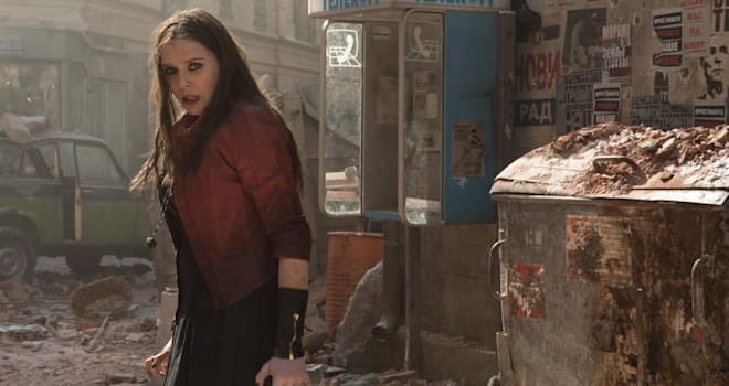 elizabeth olsen as scarlet witch in avengers age of ultron