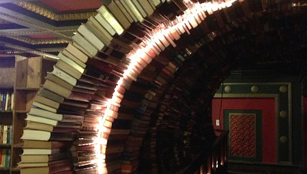 The Tunnel of Books at The Last Bookstore