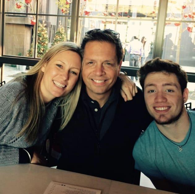 Justine Ruszczyk (Damond) with fiancé Don Damond and step-son