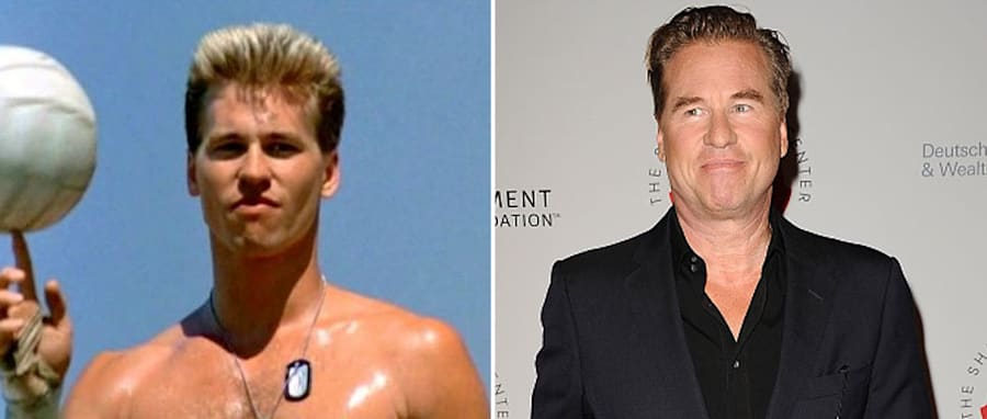 Having a ball: Val Kilmer has confirmed he's heading back to the cockpit for the Top Gun