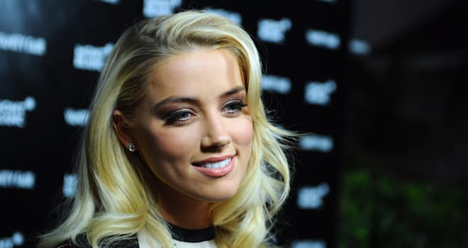 Amber Heard at a Vanity Fair Montblanc Party at Hotel Bel-Air Los Angeles on February 21, 2012
